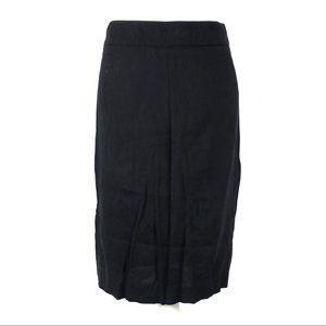 Theory 4 skirt pencil black straight linen career